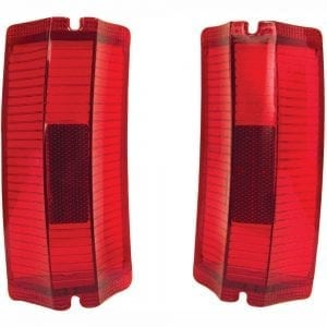 1965 Chevy El Camino Tail Lamp Lens Pair