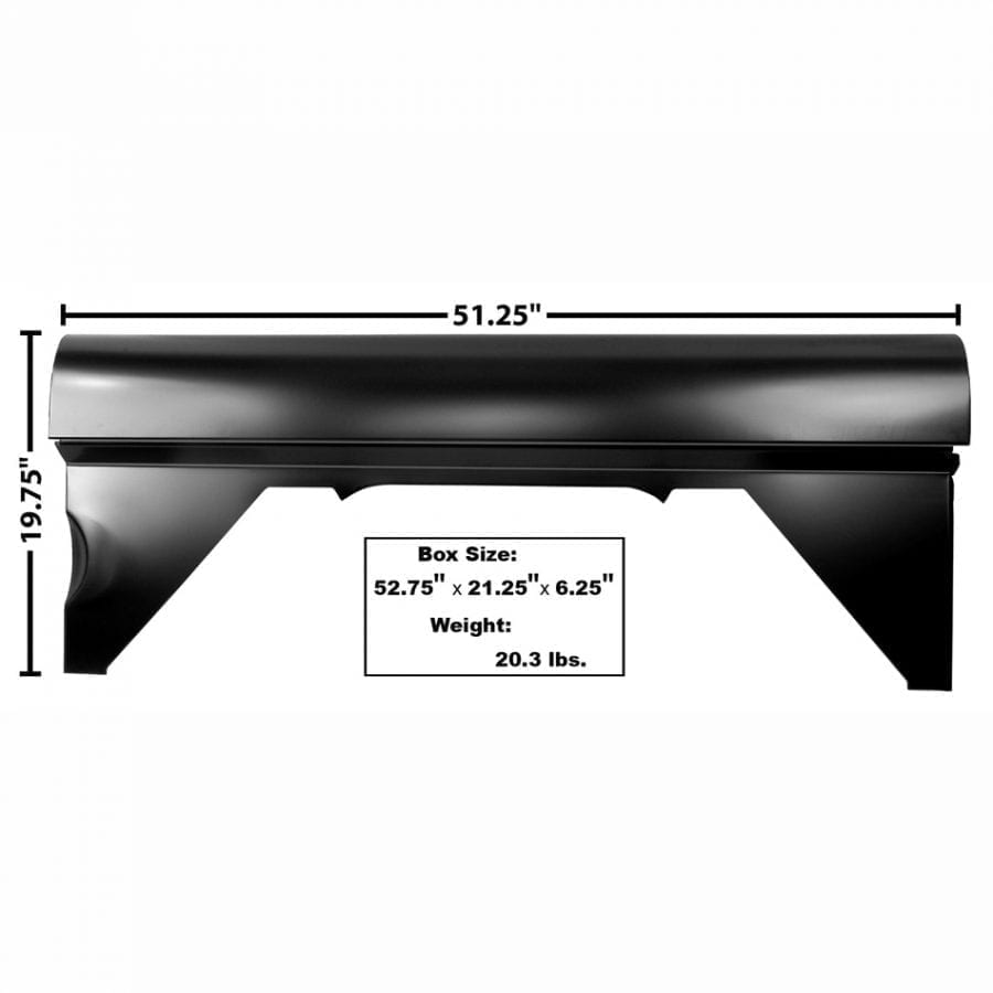 1966-1976 Ford Bronco Bed Quarter Panel Driver Side (LH)