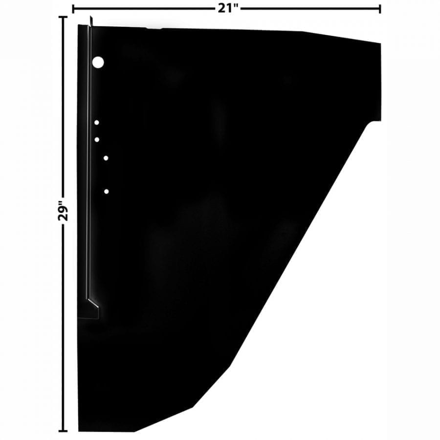 1966-1977 Ford Bronco Cowl Side Panel Driver Side (LH)