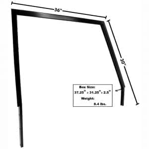 1966-1977 Ford Bronco Door Window Frame Passenger Side (RH)