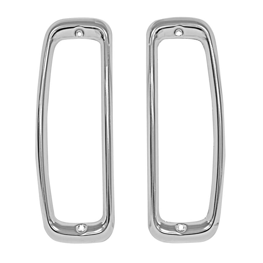 1966-1977 Ford Bronco Tail Lamp Bezel Pair