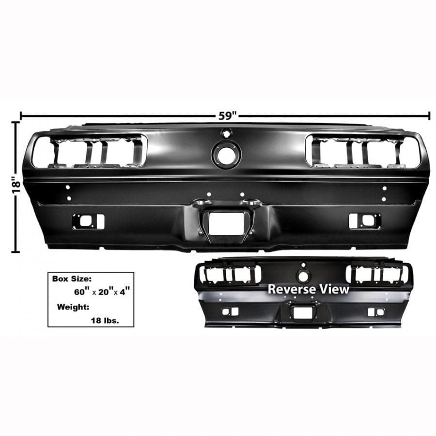 1967-1968 Chevy Camaro Tail Light Panel RS