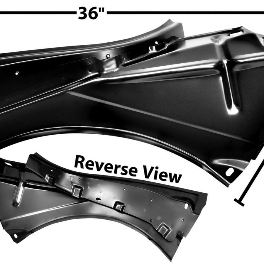1967-1968 Chevy Camaro or Pontiac Firebird Quarter Panel Inner Bracket Driver Side (LH)