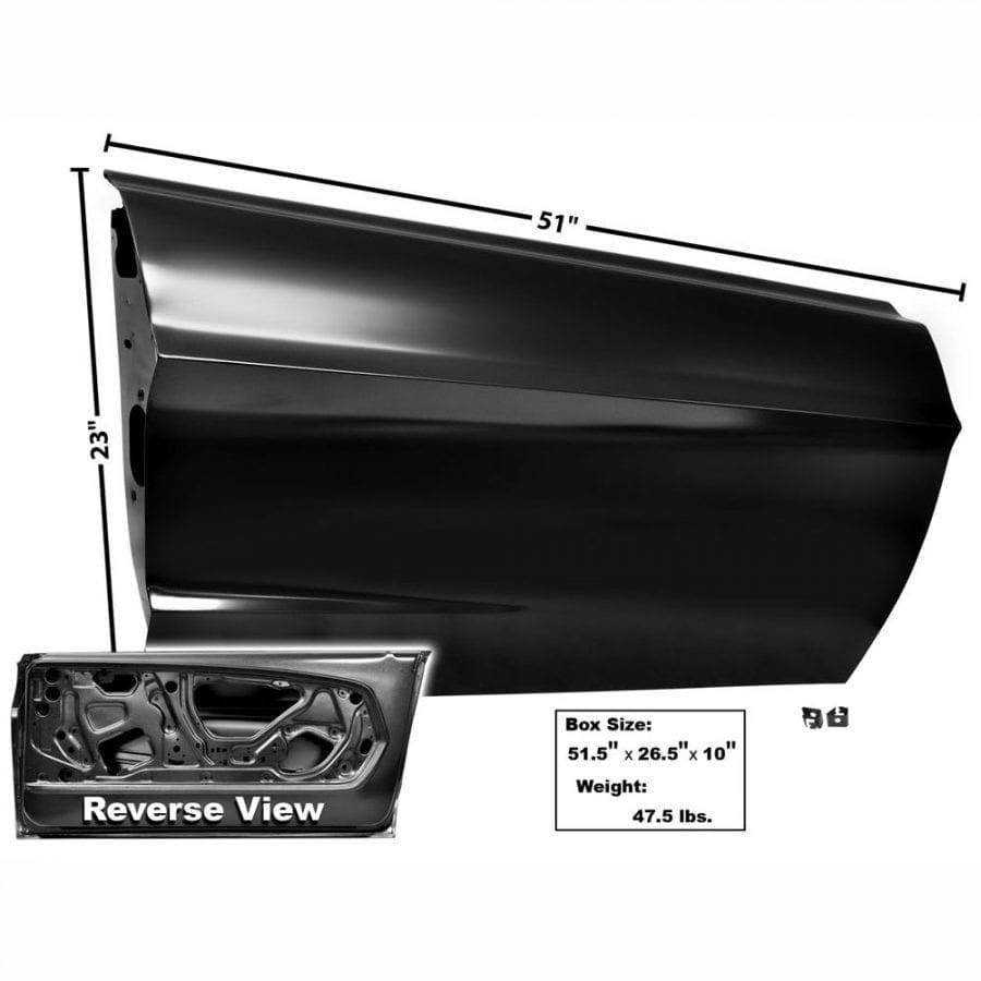1967-1968 Ford Mustang Door Shell Passenger Side (RH) Custom