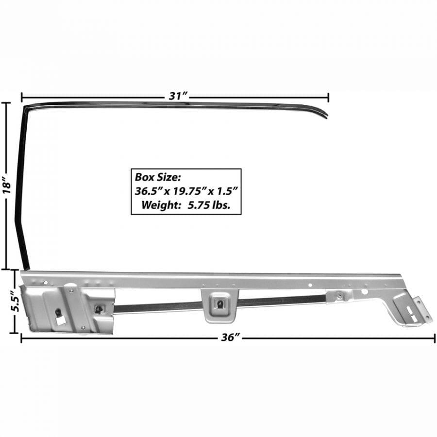 1967-1968 Ford Mustang Door Window Frame Kit Passenger Side (RH) Convertible