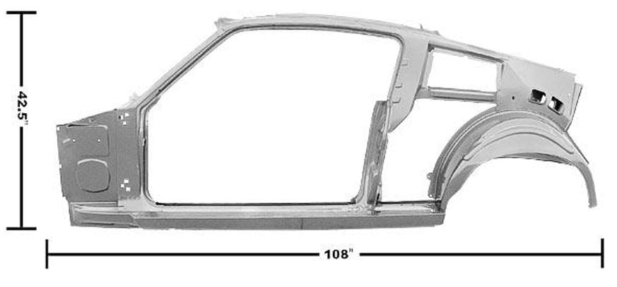 1967-1968 Ford Mustang Quarter-Door Frame Assembly Driver Side (LH) Fastback-DYN3645UWT
