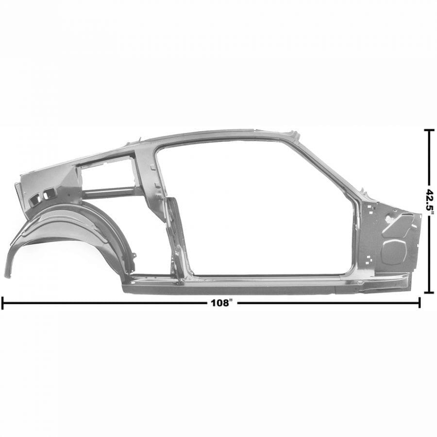 1967-1968 Ford Mustang Quarter/Door Frame Assembly Passenger Side (RH) Fastback