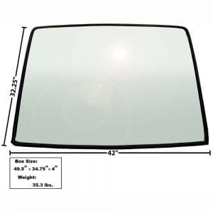 1967-1968 Ford Mustang Rear Window Glass Fastback
