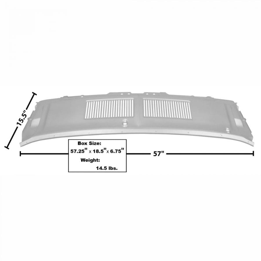 1967-1968 Ford Mustang Right Hand Drive Cowl Vent Grille