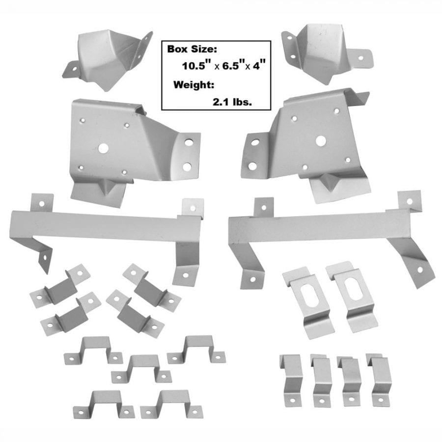 1967-1968 Ford Mustang Roof Trim Bracket 21Pc Set