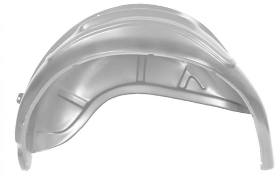 1967-1968 Ford Mustang Wheelhouse Complete Driver Side (LH) Coupe or Fastback-DYN3631QCWT