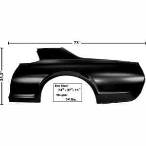 1967-1968 Mercury Cougar Quarter Panel Driver Side (LH)