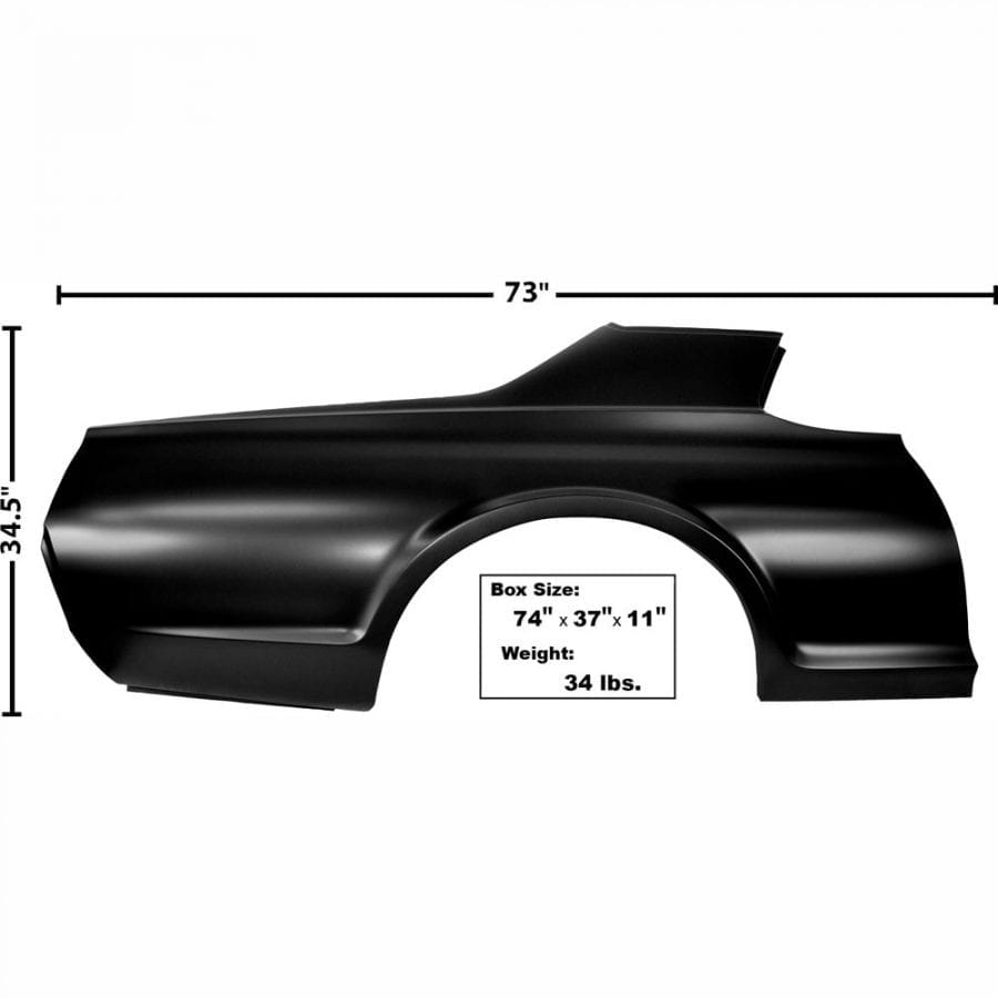 1967-1968 Mercury Cougar Quarter Panel Passenger Side (RH)