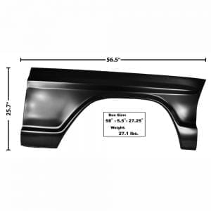 1967-1972 Ford Pickup Truck Fender Passenger Side (RH)