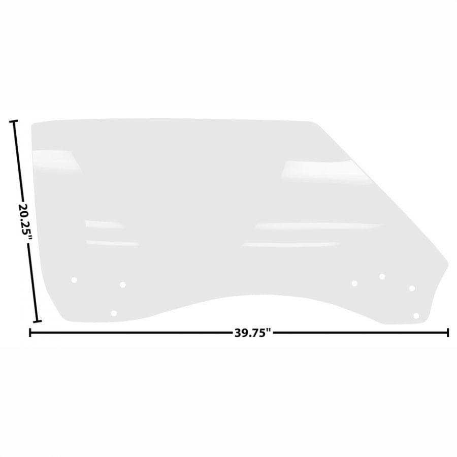 1968-1969 Chevy Camaro or Pontiac Firebird Door Glass Passenger Side (RH) Coupe or Convertible Clear