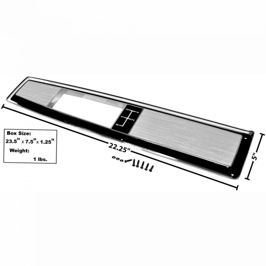 1968-1972 Chevy Chevelle Console Top Plate 4Spd