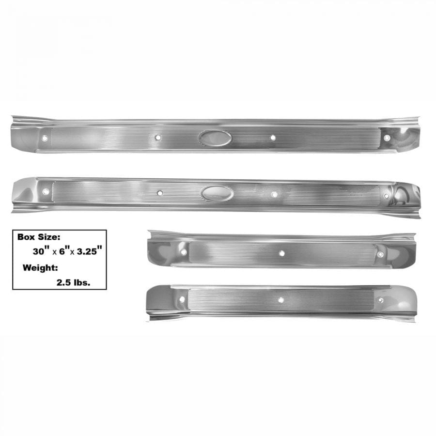 1968-1972 Chevy Chevelle Scuff Plate Stainless Set