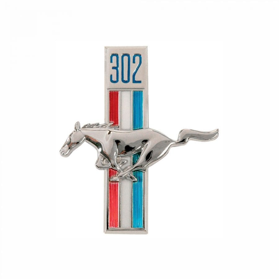 1968 Ford Mustang Emblem Running Horse 302 Driver Side (LH)