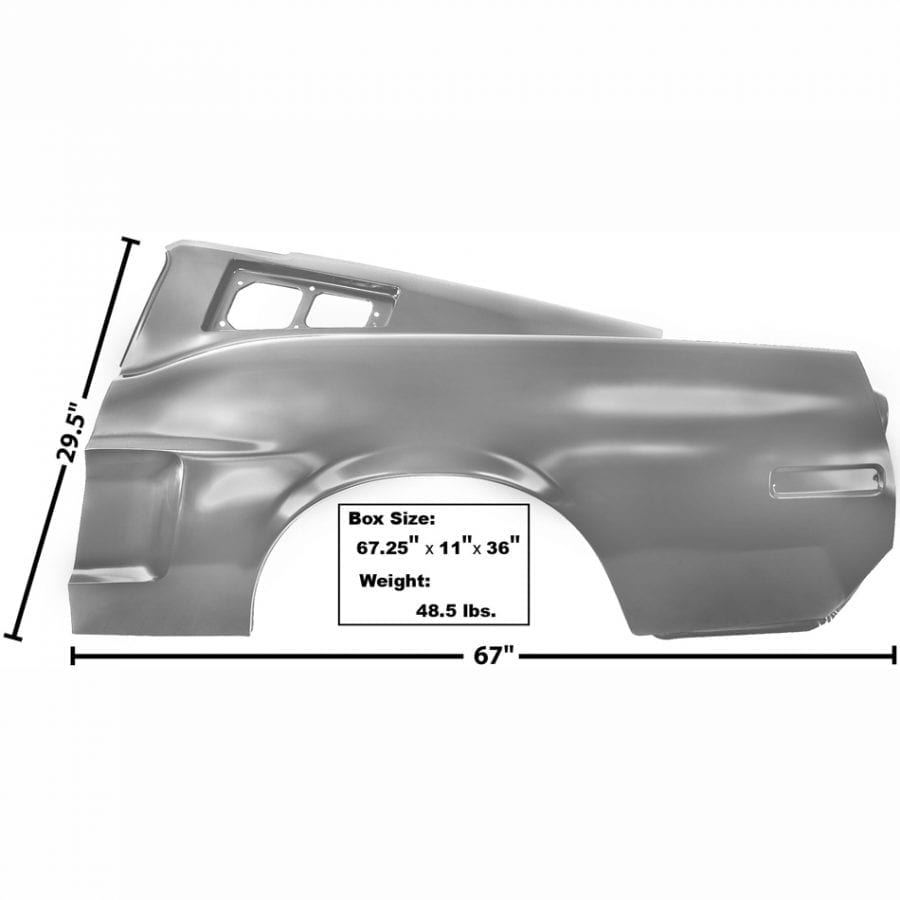 1968 Ford Mustang Quarter Panel Driver Side (LH) with Early Marker