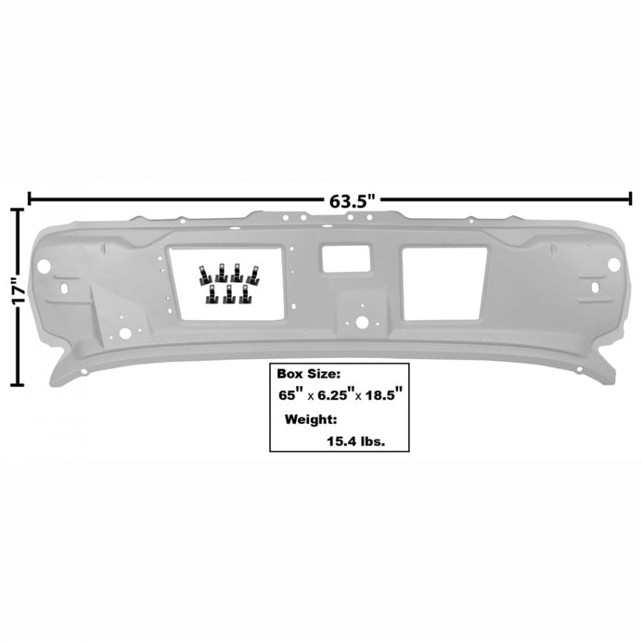 1969-1970 Ford Mustang Cowl Upper Panel