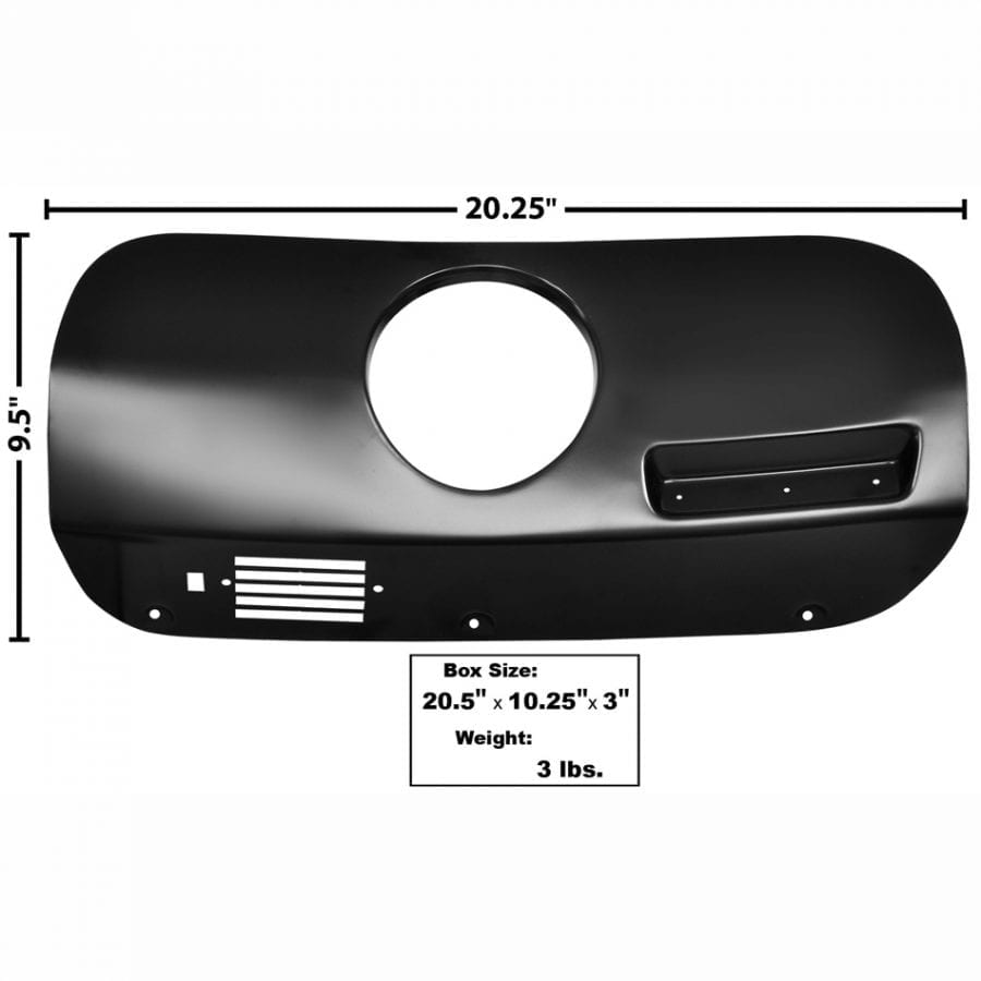 1969-1970 Ford Mustang Dash Trim Passenger Side (RH) Cover with Clock Hole
