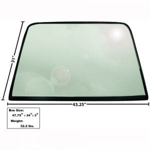 1969-1970 Ford Mustang Rear Window Glass Fastback