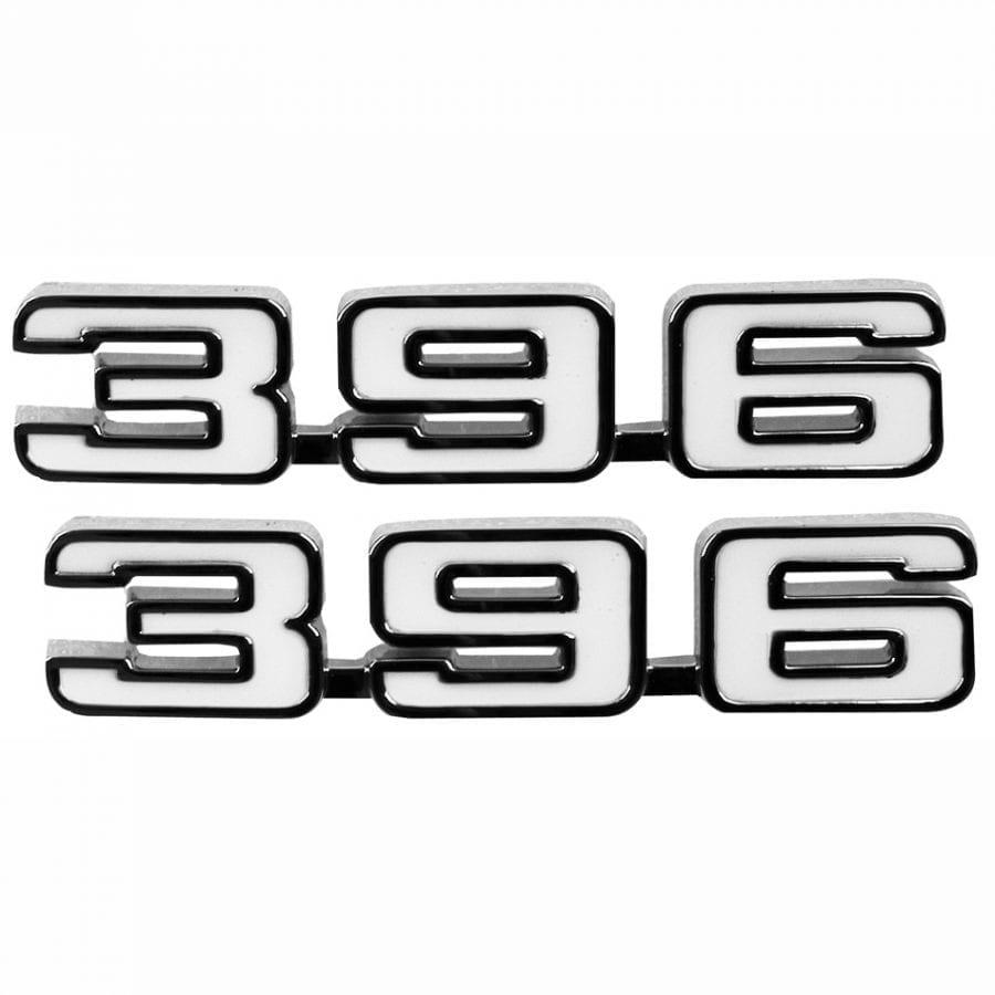 1969 Chevy Camaro Emblem Fender Emblem 396 Pair