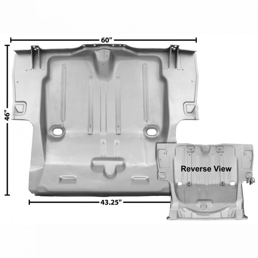 "1969 Chevy Camaro Trunk Floor Pan with 6"" Inner"