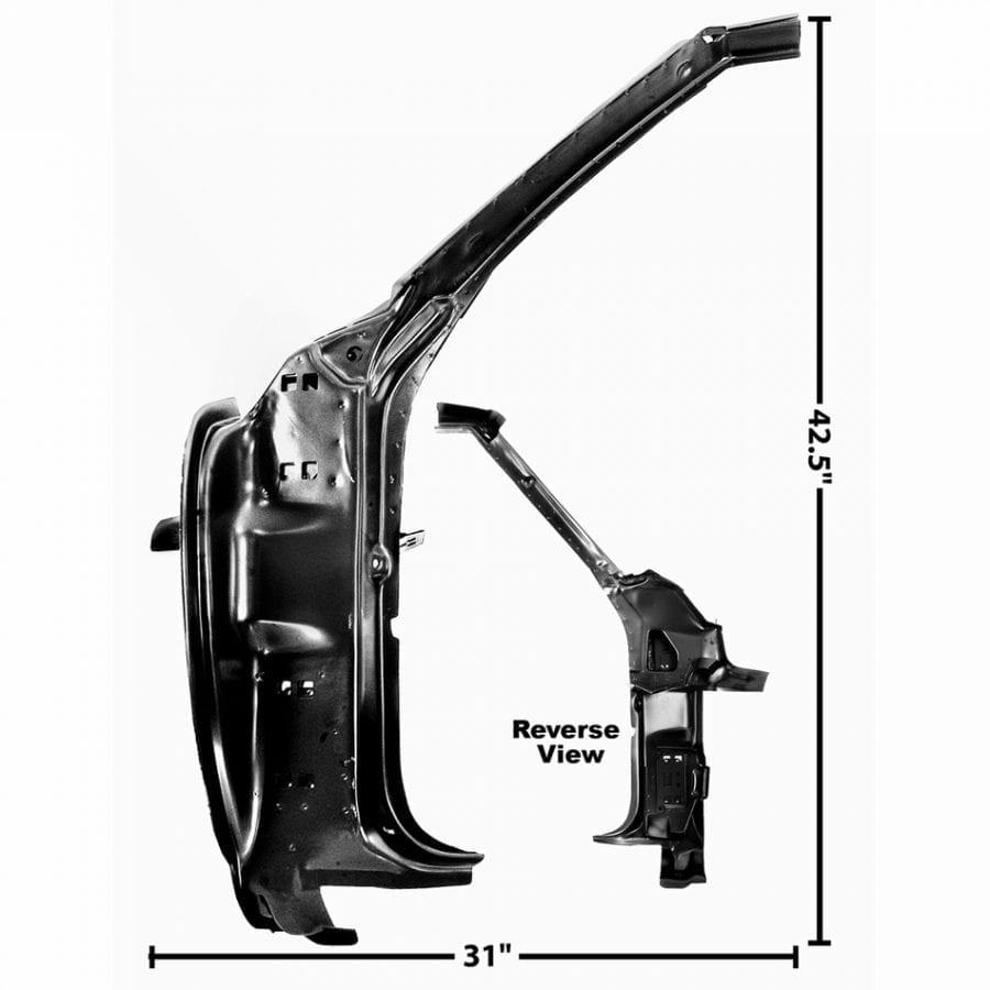 1969 Chevy Camaro or Pontiac Firebird Door Frame Inner Driver Side (LH)