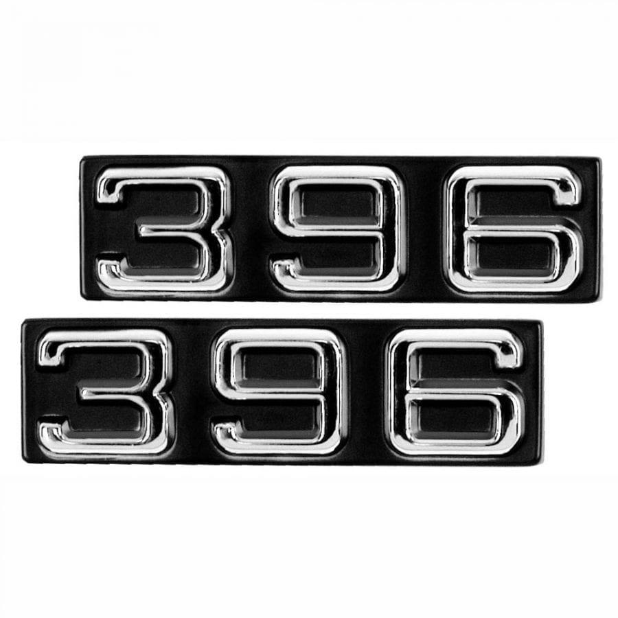1970-1972 Chevy Camaro Emblem Fender Emblem 396 Pair