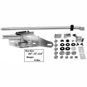 1970-1972 Chevy Chevelle Door Glass Track Kit Driver Side (LH)