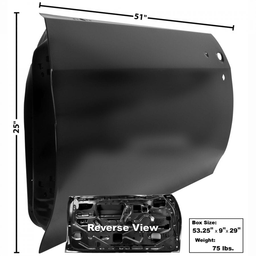 1970-1972 Chevy Chevelle Door Shell Driver Side (LH)