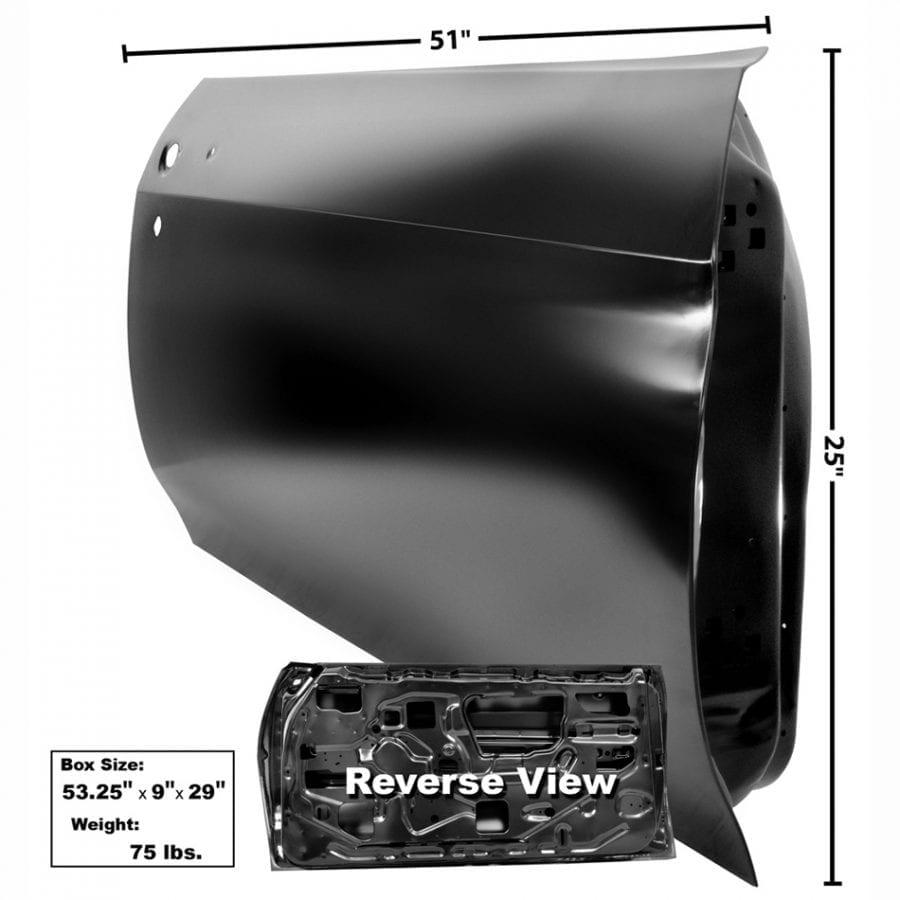 1970-1972 Chevy Chevelle Door Shell Passenger Side (RH)
