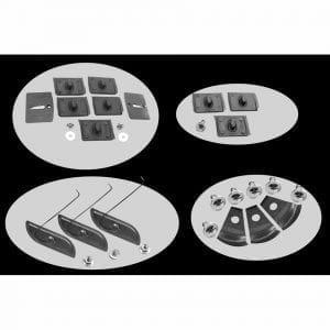 1970-1972 Chevy Monte Carlo Body Clip Molding Kit 8 Set