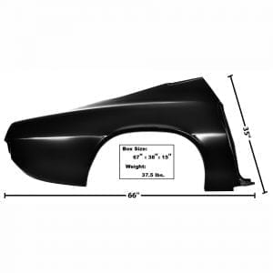 1970-1973 Chevy Camaro Quarter Panel Passenger Side (RH) w/o Lamp Hole