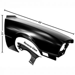 1970-1977 Ford Maverick Fender Passenger Side (RH)