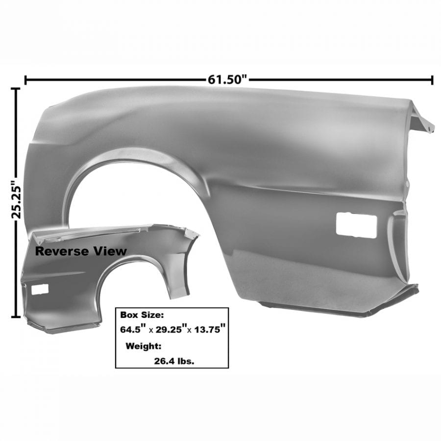 1970 Ford Mustang Quarter Panel Complete Driver Side (LH) Convertible
