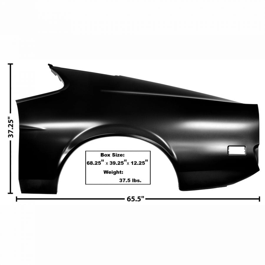 1971-1972 Ford Mustang Quarter Panel Driver Side (LH) Fastback