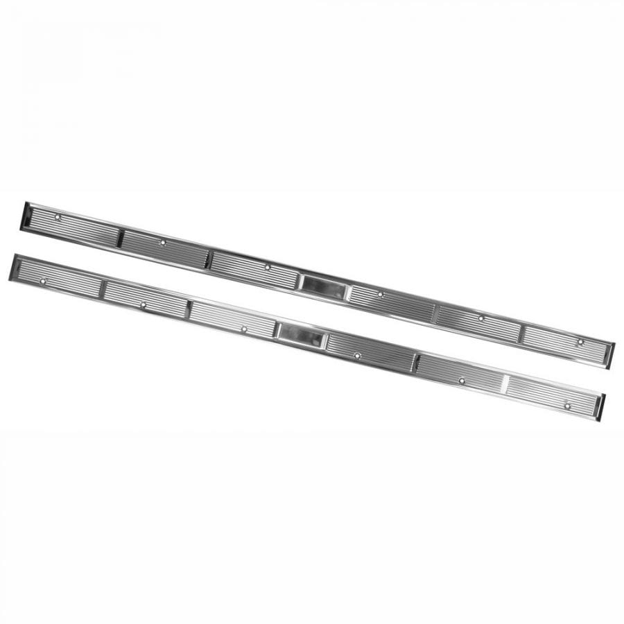 1971-1973 Ford Mustang Door Scuff Plate Stainless Pair