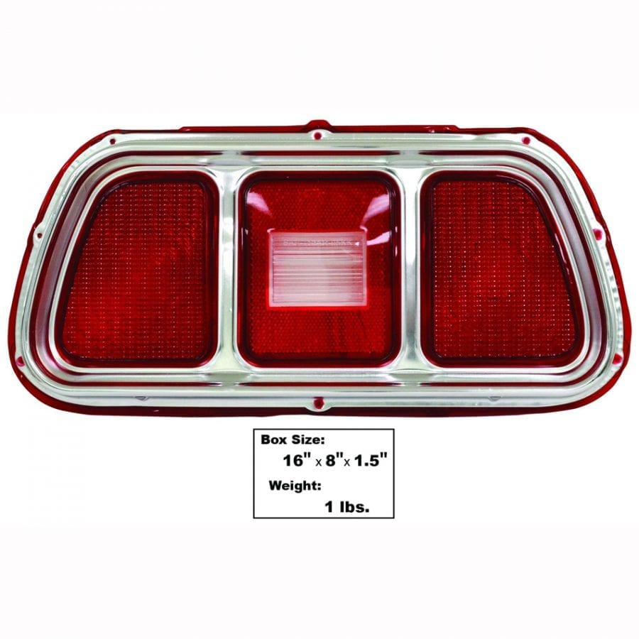 1971-1973 Ford Mustang Tail Lamp Lens with Molding