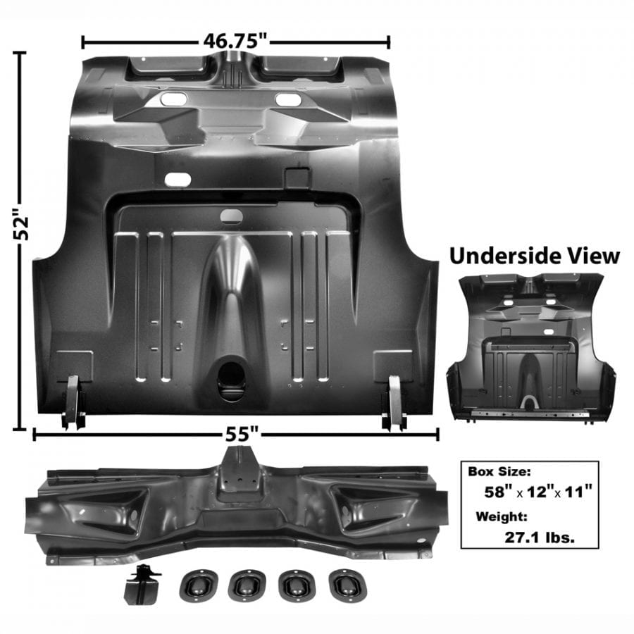 1971-1973 Ford Mustang Trunk Floor Complete Fastback