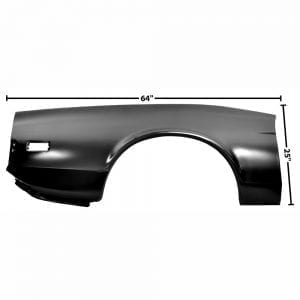 1973 Ford Mustang Quarter Panel Skin Passenger Side (RH) Fastback