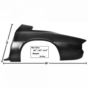 1974-1981 Chevy Camaro Quarter Panel Full Driver Side (LH)