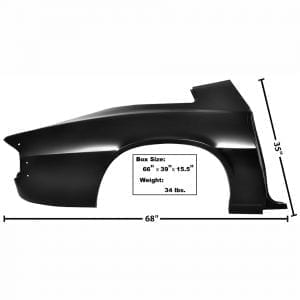 1974-1981 Chevy Camaro Quarter Panel Full Passenger Side (RH)
