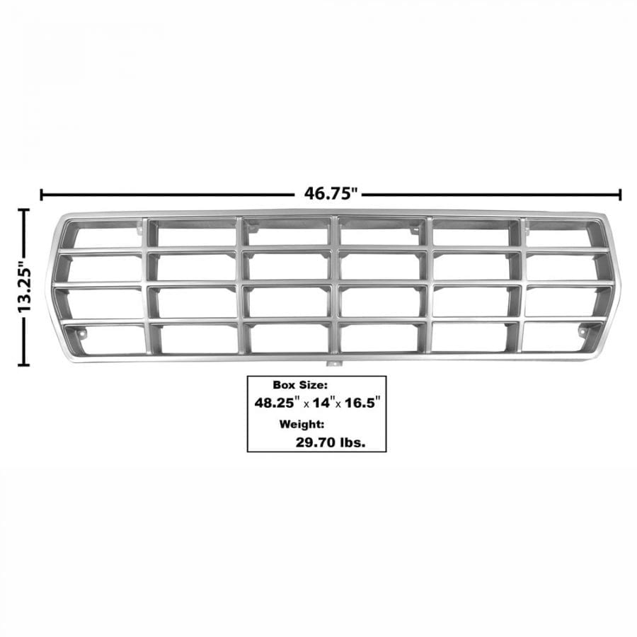 1978-1979 Ford Pickup Truck Grille Argent