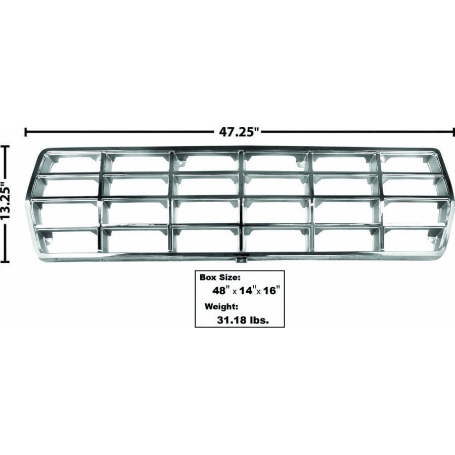 1978-1979 Ford Pickup Truck Grille Chrome/Argent