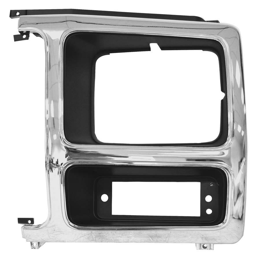 1980-1986 Ford Pickup Headlamp Door Driver Side Chrome/Black