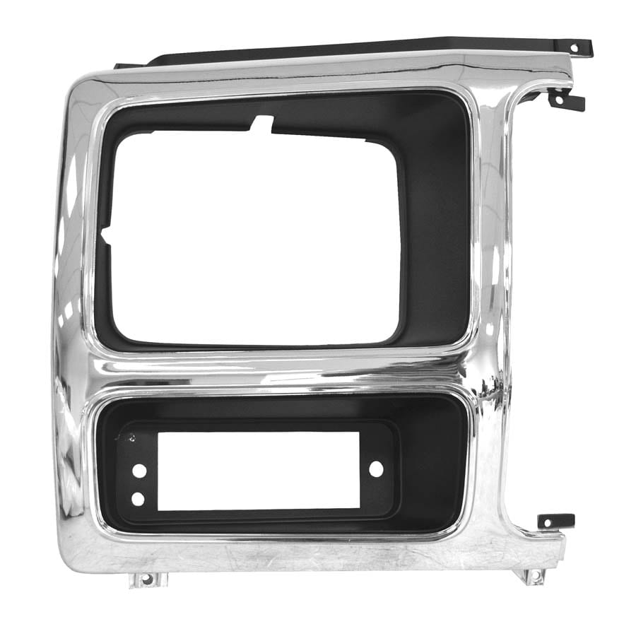 1980-1986 Ford Pickup Headlamp Door Passenger Side Chrome/Black