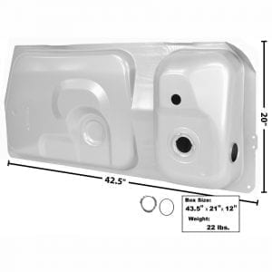 1981-1986 Ford Mustang Gas Tank 15.4 Gal 1 Gauge Hole