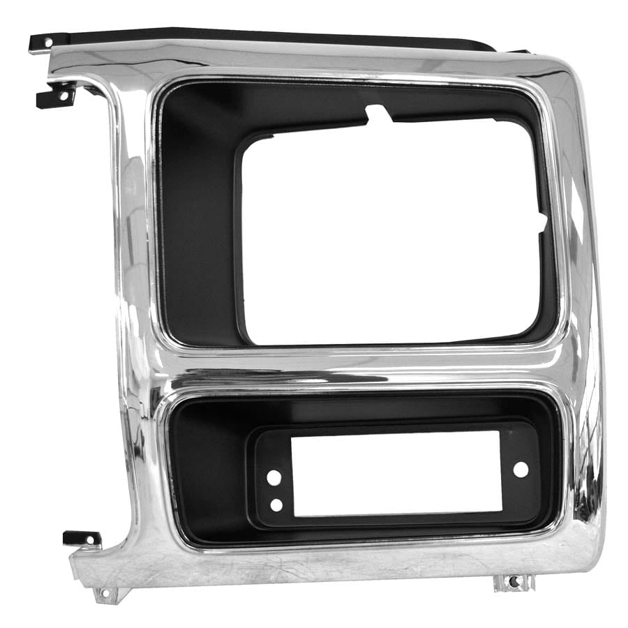 1982-1986 Ford Pickup Headlamp Door Driver Side Chrome/Gray